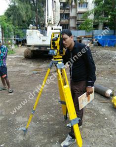 Plot Surveyor By Total Station Machinery